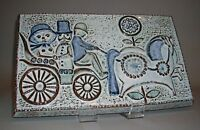 Mid Century Modern Couple in  Horse Carriage Wall Tile Soholm Denmark,Wall Decor