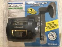 SHAKESPEARE TIDEWATER BIGWATER CONVENTIONAL REEL TW30LA2, NEW OLD STOCK w PAPERS