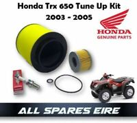 GENUINE HONDA TRX650 RINCON QUAD/ATV TUNE UP KIT 2003-2005 AIR OIL FILTERS PLUG