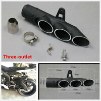 Modified Three-outlet Exhaust Pipe Tail Tip for Motorcycle ATV Quad Street Bike