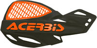 Acerbis Vented Uniko MX Motocross ATV Handguards Black/Orange 2072671009