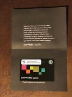 Starbucks Card 2010 Yahoo! $5 w/ sleeve, sticker MINT very hard to find NEW Rare