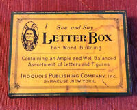 See and Say Letter Box  Metal tin WITH CONTENTS - Iroquois Publishing