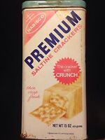 Very ! Rare ! Vintage 1969 *15 Oz 15 Oz 15* Nabisco Premium Saltine Crackers Tin