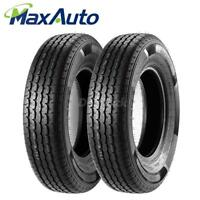 Set of 2 ST175/80-13 8PR Radial Trailer ATV UTV Wheel Tires 8 Ply