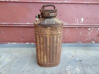 Vintage Ellisco  5 Gallon Oil Gas Can Container