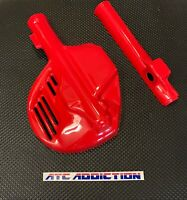 NEW Fork & Disc Guards Fighting RED 1985 1986 Honda ATC350X ATC 350X NOS Maier