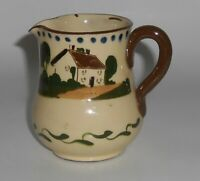 Watcombe Torquay Pottery Motto Ware Waste Not Want Not Creamer