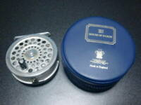 Hardy Fly Fishing Reel Marquis 5 Vintage Made in England w/Zip Case
