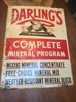 Vintage Darlings Mineral Cow Farm Tin Sign W/ pig sheep swine Graphics 24X18