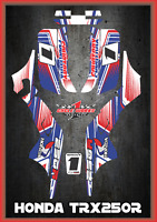 Honda TRX 250R  FOURTRAX  ATV SEMI CUSTOM GRAPHICS KIT PRIMAL