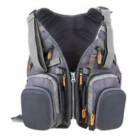 Fly Fishing Backpack Adjustable Size Mesh Fishing Vest-style Pack-Gray US SHIP
