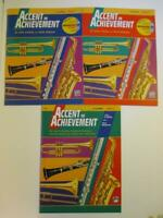 Accent on Achievement  Bb Clarinet  Books 1,2 and 3  New Sealed CD