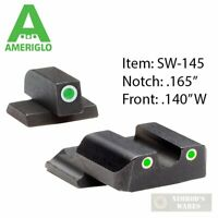 AmeriGlo S&W M&P SHIELD Night SIGHTS SET Classic SW-145 FAST SHIP