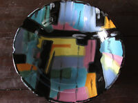 """VINTAGE MID-CENTURY MODERN LONGWY FRANCE FRENCH FAIENCE PIGALLE BOWL-10 ¼"""""""