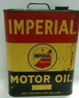 Vintage Imperial Motor Oil 2 Gallon Can Gas Station Advertising