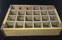 Vintage Coca Cola Yellow Wood Wooden 24 Bottle Crate Coke 1966 Carrier Caddy