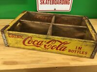 Yellow Coca Cola Wooden Coke case / crate Chattanooga, TN 1968 #7