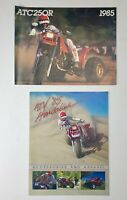 Honda ATC ATC250R Dealer Brochure 1985 & ATV '85 Hondaline accessories & apparel