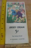 Jersey Cream soda drink in Bottles lot of 3 VINTAGE advertising cards .05 cents