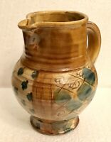 Table Wine Water Pitcher Collectible Vintage French Pottery Pichet