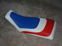 Honda ATC 250R White Red & Blue ATV Seat Cover #eugh7e6t7tc1059