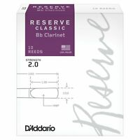 Rico Reserve Classic Bb Clarinet Reeds 2.0 Strength, 10 Count
