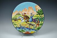 Antique French Pottery EMAUX de LONGWY Large Plate Wall Decor ~ Limited Edition