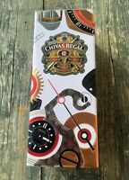 EMPTY CHIVAS REGAL 12 YEARS BLENDED WHISKY LIMITED EDITION TIN CAN METAL BOX