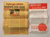 1941 vintage BABSON SURGE NEWS advertising 8pg NEWS w BROADSIDE boarder cow