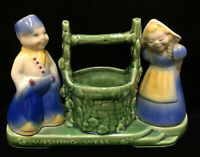 Planter Dutch Boy & Girl Shawnee Pottery USA Wishing Well Vintage Ceramic 8