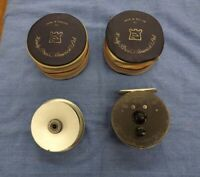 HOUSE OF HARDY Vintage Fly Fishing Reel MARQUIS #6 with spare spool Case