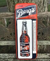 Early 1950's BARQ'S ROOT BEER Thermometer / Sign Vintage - Donasco #117A