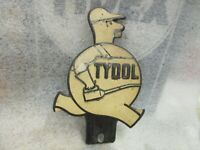 Early Original Tydol License Plate Topper
