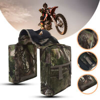 Motorcycle High-capacity Storage ATV Front Hanging Gas Tank Saddle Bag W/ Bottle