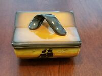 VINTAGE HAND PAINTED SCHRAMBERG GERMANY CIGARETTE BOX WITH LID