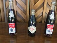 Set of 3 unopened bottles Summer Olympics LOS ANGELES Coca Cola