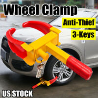 Wheel Clamp Tire Lock Parking Boot Anti Theft Car SUV ATV RV Boat Trailer US