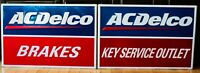 Vintage AC Delco Brakes & Key Service Outlet Gas Station Sign 24