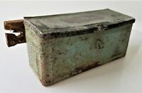 antique original FORDSON TRACTOR TOOL BOX metal EARLY GREEN PAINT