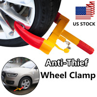 US Wheel Tire Lock Clamp for Boat Trailer Car SUV ATV RV Parking Boot Anti Theft