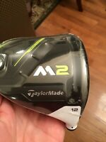 New TaylorMade M2 2017 Driver 12* Head Only RH Free shipping