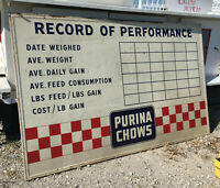 Purina Chows Record of Performance Metal Sign 94