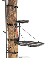 Tree Stand Hunting Combo Set Hang On Stand & 20' Climbing Stick Free Shipping!