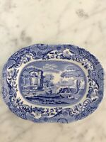 Spode Blue Italian Miniature Oval Platter - Made in England