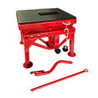 300LB Motor Hydraulic Scissor Floor Jack ATV Wide Deck Center Table Stand Lift