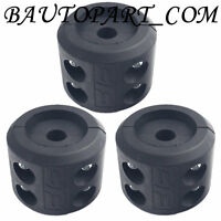 3 Sets ATV Winch Cable Hook Stop Stopper Rubber Cushion
