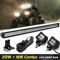 54 Inch LED Light Bar Offroad Work Lamp Waterproof Deck Mast Marine Boat Fishing