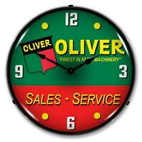 Oliver Tractor Sales & Service LED Lighted Wall Clock ~ Made in USA ~