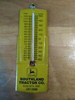Vintage John Deere Implement Tin Thermometer Sign Tractor advertising UNIQUE